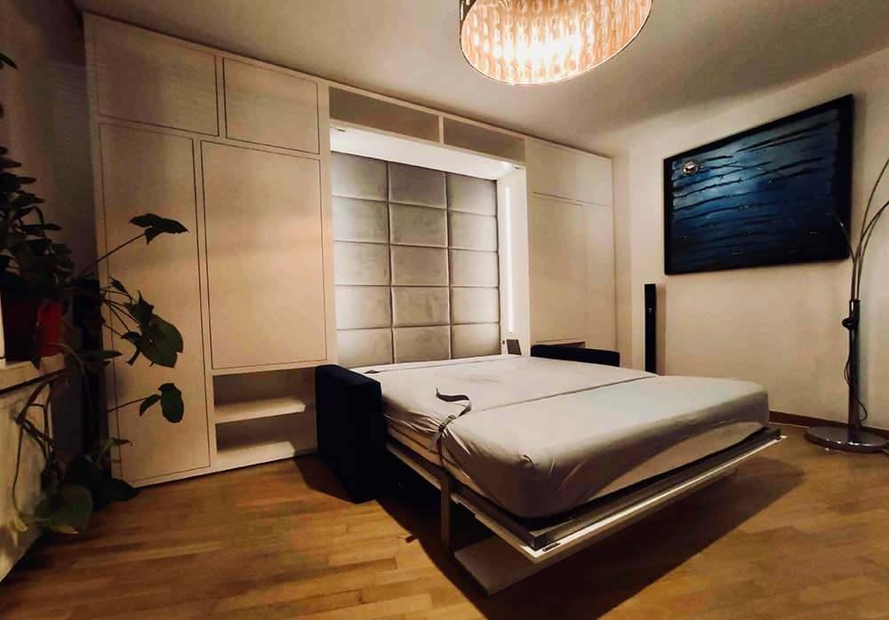 łóżko w szafie z sofą Smartbed