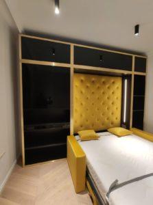 łóżko wielofunkcyjne chowane w szafie