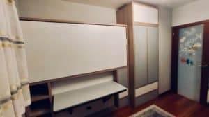 łóżko z biurkiem składane